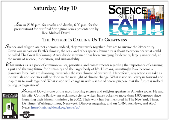 may 10 science faith